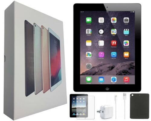 Apple iPad 4 Black 16GB 9.7-inch Wi-Fi Only and Plus Bundle/Free 2-Day Shipping!