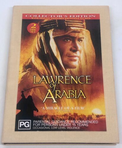 """LAWRENCE OF ARABIA - DVD """" COLLECTORS EDITION CANVAS COVER """" 2 DISC - Rare OOP"""