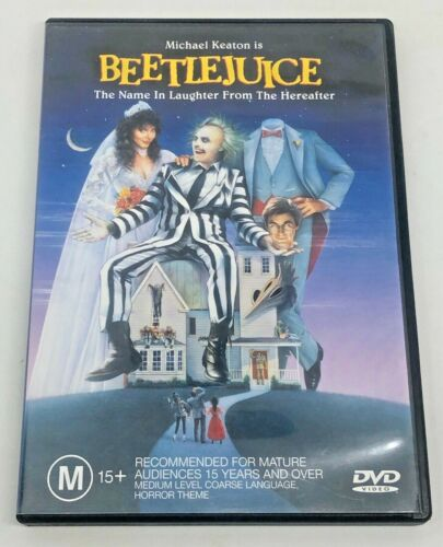 Beetlejuice (R4 DVD, 1999) Michael Keaton Dual Side DVD Regular And Widescreen