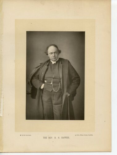 Vintage Cabinet Card W & D Downey Hugh Reginald Haweis English cleric and writer