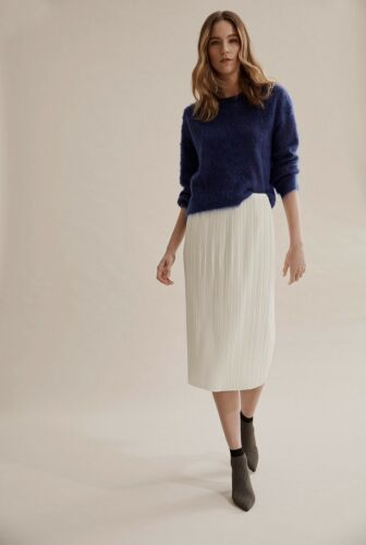 NWT $159 COUNTRY ROAD Wool & Mohair Fluffy Knit Jumper XXS XS S M  French Cobalt