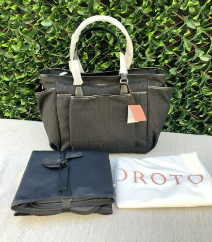 BNWT OROTON RRP$329 Signet Baby Diaper Nappy Bag Shoulder Satchel Tote Black