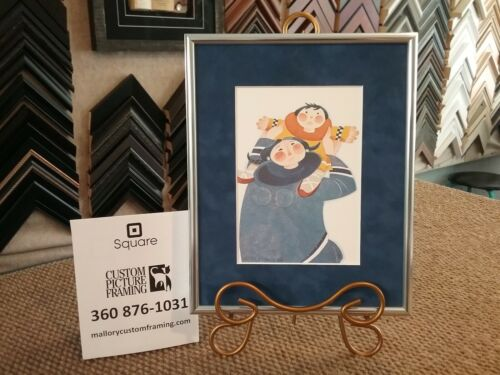 """New Custom Framed & Matted Art Card  """"GAMBELL MOTHER"""" by Rie Munoz"""