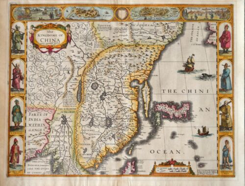 THE KINGDOM OF CHINA BY JOHN SPEED, PUBLISHED IN 1626..THIS EDITION 1676.