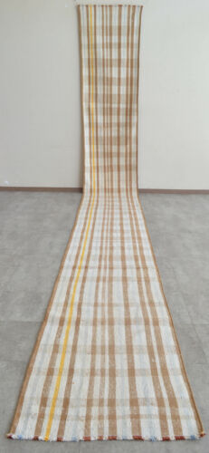 2x17 ft Runner Rug Flat Weave - Long Runner - Cotton Hallway Rug - Stair Tread
