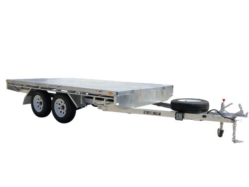 12x7 Flat Top Tandem Trailer 3 Tonne ATM Galvanised W/ Removable Drop Down Sides <br/> 3 Tonne ATM With 950kg Tare Weight, Electric Brakes