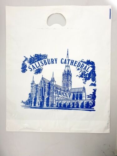 Vintage Souvenir Plastic Bag THE NATIONAL TRUST CENTENARY YEAR 1895 - 1995 USED