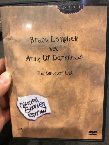 Bruce Campbell Vs Army Of Darkness (1992) Official Bootleg Edition region 1 DVD