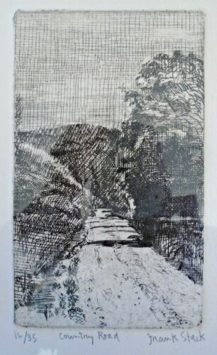Frank Stack Signed Country Road Etching (Robert Crumb contemporary)
