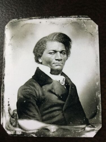 civil war Famed 19th-century author and orator Frederick Douglass tintype C653RP