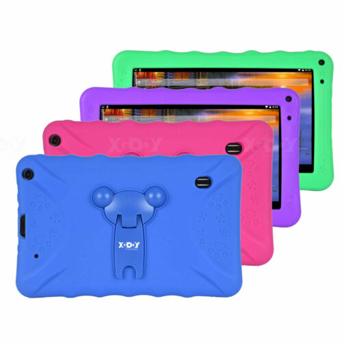 "XGODY T901 Universal Silicone Case 9""Inch For Various Kids Tablets Cover Stand"