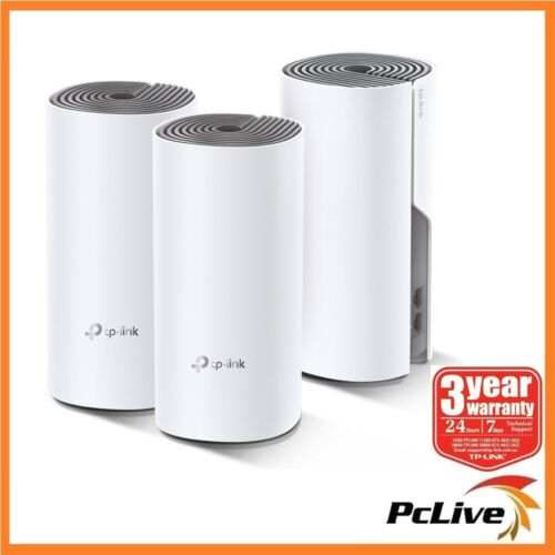 NEW TP-Link Deco E4 3 pack AC1200 Whole Home Mesh WiFi Wireless Extender Router