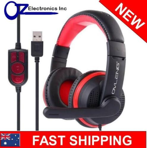 USB PC Headphones Headset Skype Zoom Teams Chat Conference Video Call Brand New