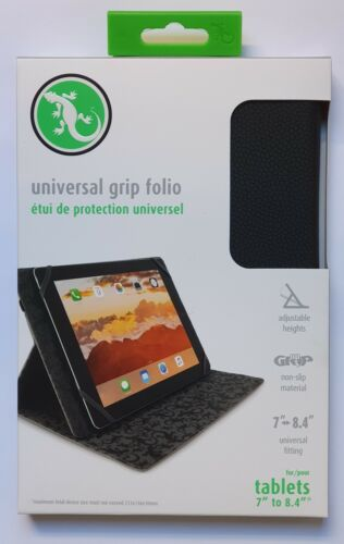 """Gecko Universal Grip Folio for 7"""" to 8.4""""  tablets - Black - Free Shipping"""