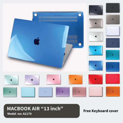 """2020 Apple Macbook Air 13"""" A2179 Protective Hard Case + Keyboard Cover Latest [2"""
