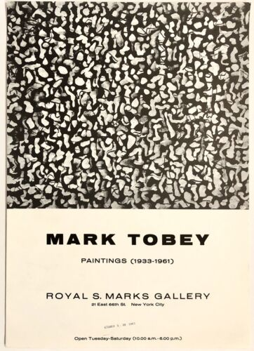 Original Vintage Poster MARK TOBEY PAINTINGS Abstract Modern Art Exhibition 1961