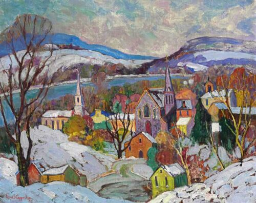 Village Landscape by Fern Isabel Coppedge  Giclee Canvas Print  Repro