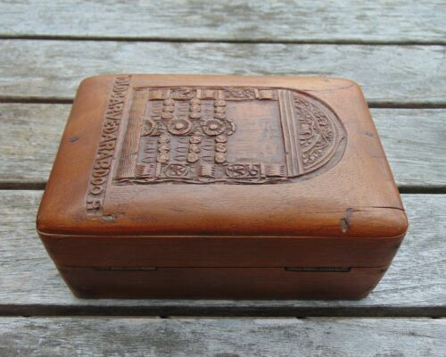 Aesthetic Movement Inspired Box with a Hinged Lid – 'Old Carved Arab Door'