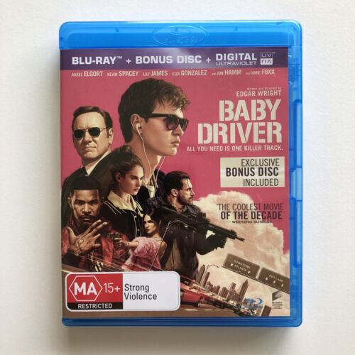 Baby Driver BLU-RAY with exclusive Bonus Disc LIKE NEW Edgar Wright Ansel Elgort