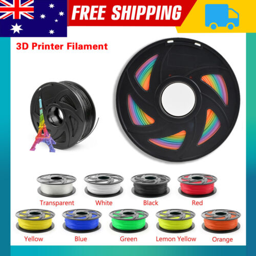 1.75mm 3D Printer Filament ABS/PLA/PETG Accuracy +/- 0.02mm 2.2 LBS (1KG) Spool