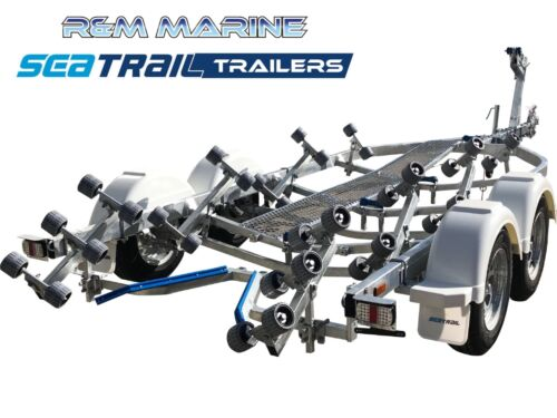 Seatrail 6.2M Wide Body Rollered Boat Trailer (7.10M Overall Length)