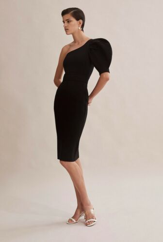 NWT $249 COUNTRY ROAD Limited Edition Milano Compact Knit DRESS XS S M  L XL BLK