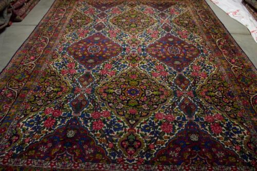 12X8 HANDMADE ANTIQUE   RUG  MASTERPIECE ONE OF THE KIND %100 WOOL