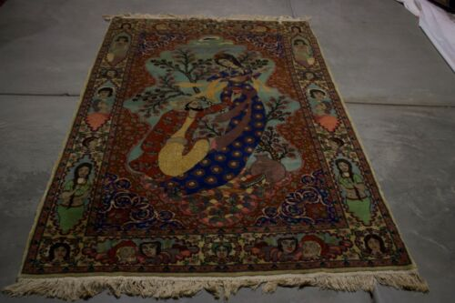 7x4  ANTIQUE  PICHER HANDMADE    RUG  MASTERPIECE ONE OF THE KIND WOOL