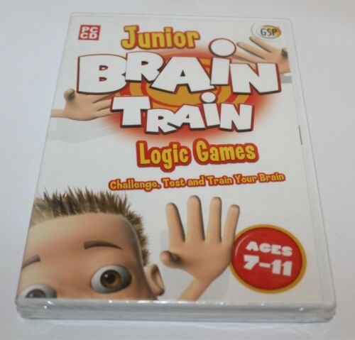 Junior Brain Train Logic Games PC Game Brand New & Sealed Ages 7-11 2008