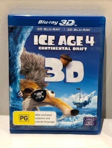 BLU-RAY Ice Age 4 Four : Continental Drift - 3D - FREE POST #P2