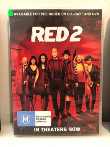 DVD Red 2 Two - Bruce Willis - FREE POST #P2