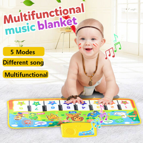 Kids Musical Piano Carpet Play Mat Educational Electronic Toy Blanket Rug