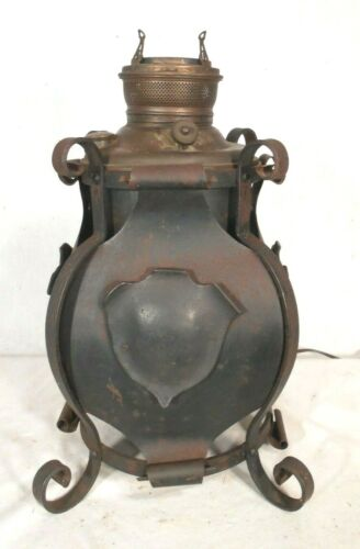 ANTIQUE ARTS & CRAFTS WROUGHT IRON JUNO LAMP BASE