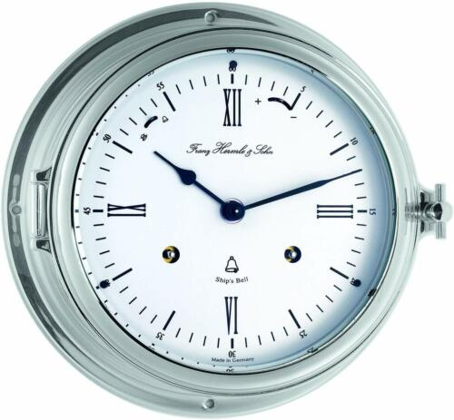 Bell Clock, Ship Clock,Porthole Clock, Mechanical With Chime Nickel Plated