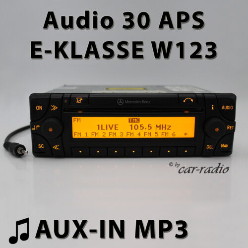 Mercedes Audio 30 Aps Aux-In W123 Navigation System C123 S123 E-Class CD Radio