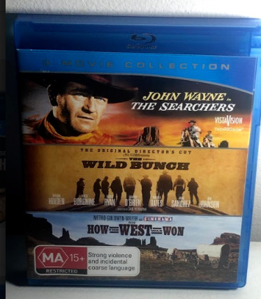 BLU-RAY The Searchers / The Wild Bunch / How the West Was Won FREE POST #V2