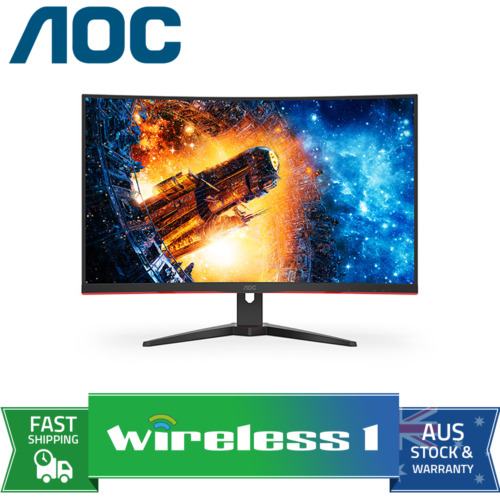AOC CQ32G2E 31.5in 144Hz QHD 1ms FreeSync VA Curved Gaming Monitor