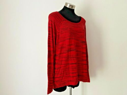 JAG Red & Black Knit Size M 12 14