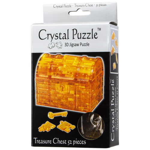 NEW Games 3D Crystal Jigsaw Puzzle Treasure Chest
