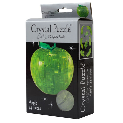NEW Games 3D Crystal Jigsaw Puzzle Green Apple