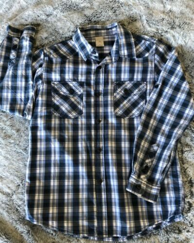 Boys Size 10 Shirt Long sleeve by Target Navy Nice Smart Style Cotton