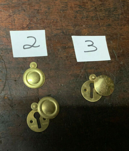 Vintage Brass Escutcheon Key Cover Legge Door Hardware Made in England