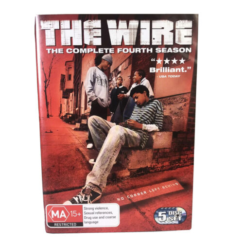 The Wire - The Complete Fourth Season -5 Disc DVD Set -Region 4 -PAL -FREE POST