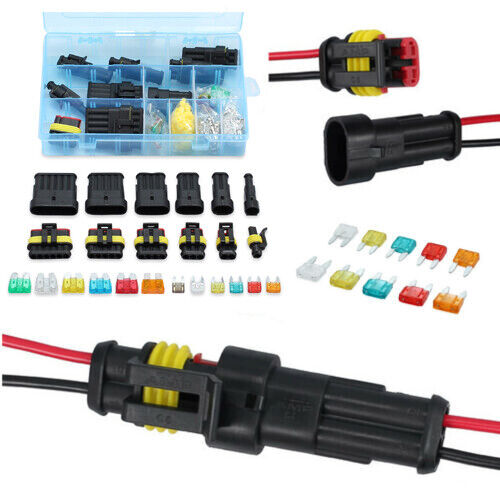 Waterproof 12V Electrical Wire Connectors Plugs Terminal Kit For Car 1-6 pin