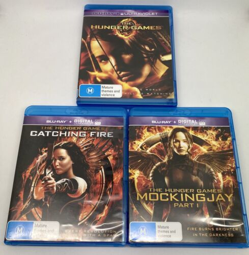 The Hunger Games Catching Fire Mockingjay Part 1 BluRay x3 Lot Bundle