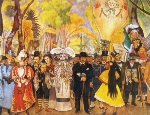 Dream of a Sunday Afternoon...by Diego Rivera Giclee Canvas Print Repro