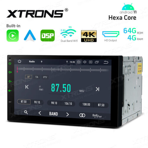 """7"""" Android 10.0 Double 2 DIN Car Stereo Radio GPS PX6 Qualcomm Bluetooth 4G+64G"""