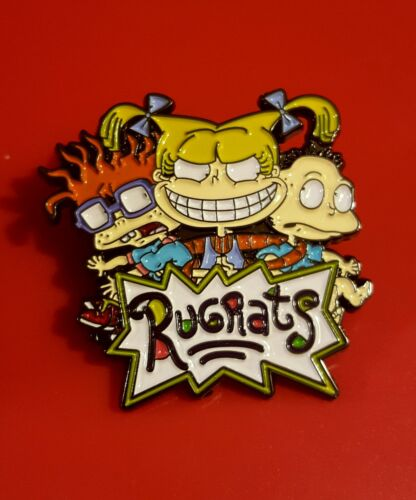 Rugrats Pin Tommy Chuckie Angelica Pin Retro TV Show Enamel Brooch Badge Lapel