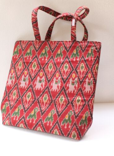 Tribal Ethnic Old Textile Cloth Used To Make Modern Shopping Hand Bag NH2884