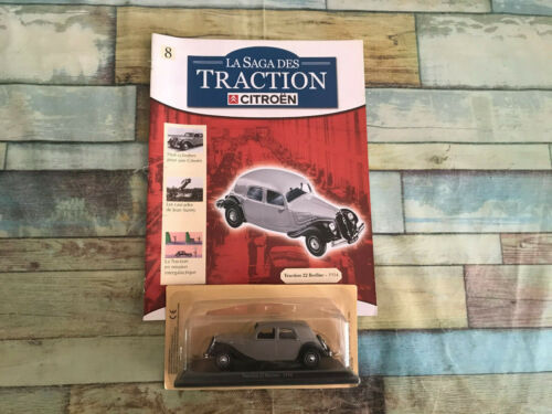 Voiture Miniature Citroen Traction 22 Berline 1934 Atlas au 1/43